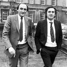 Fine Gael and Fianna Fáil chief whips Sean Barrett and Bertie Ahern during the 1983 campaign