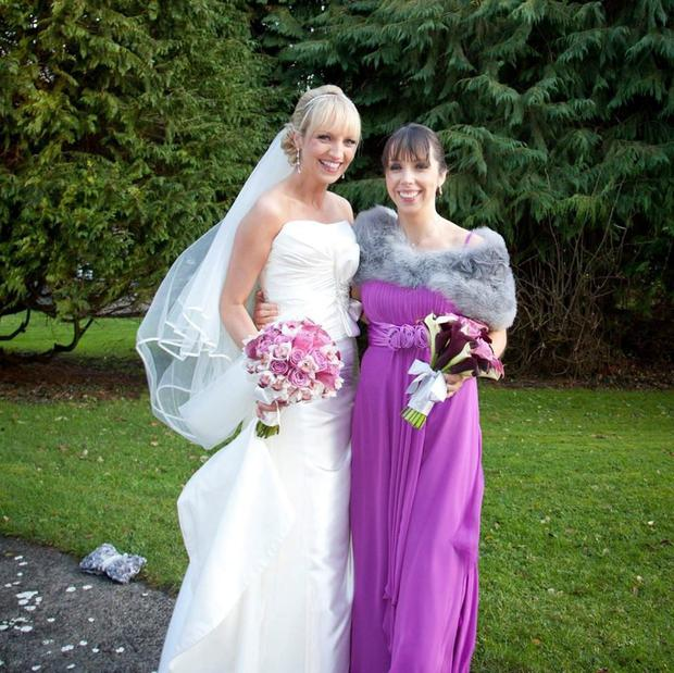Clodagh Hawe with sister Jacqueline Connolly