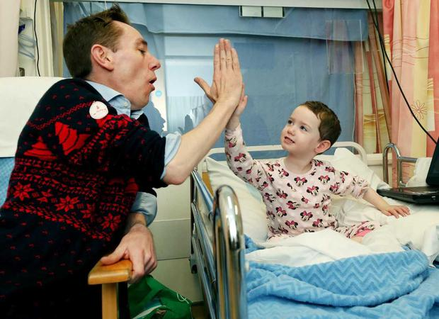 Ryan Tubridy paid a visit to Our Lady's Children's Hospital, Crumlin