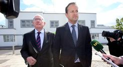 Current Justice Minister Charlie Flanagan pictured with Taoiseach Leo Varadkar. Photo: Frank McGrath