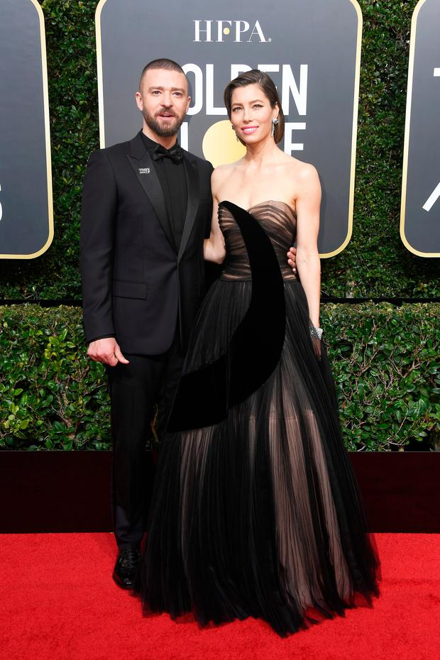 Actor/singer Justin Timberlake and his wife, actor Jessica Biel