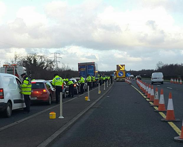 The garda checkpoint Photo: An Garda Siochana