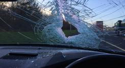 The object that came through the window Photo: Liveline