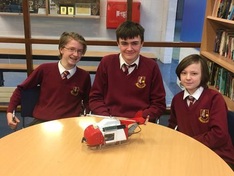 Students Robert Torley, Scott Taaffe and Josh Hand have created a system to help helicopter navigation