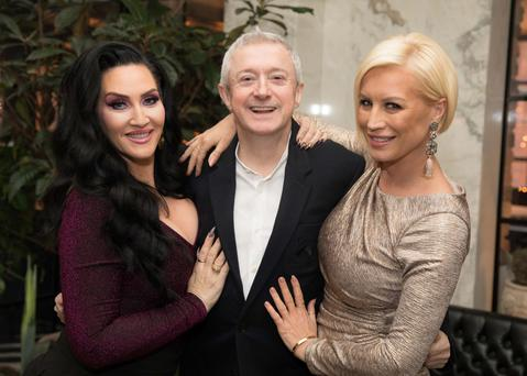 Out to launch: Michelle Visage, Louis Walsh and Denise Van Outen at TV3 Group Spring Launch 2018. Photo: Paul Sharp/SHARPPIX