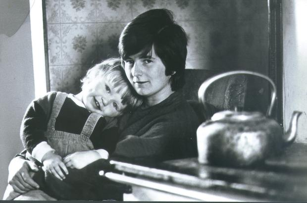 Joanne Hayes pictured with her daughter around 1985
