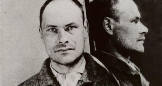 Victorian justice: Michael Cleary's prison photo - he received 15 years in prison for manslaughter