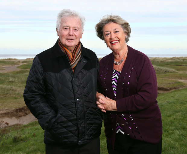 Nora Owen photographed with her husband Brian in Malahide. Picture: Frank Mc Grath