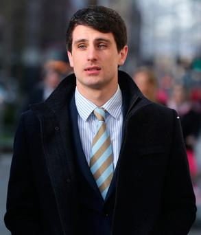 Blane McIlroy arrives at Belfast Crown Court yesterday. Photo: Niall Carson/PA Wire