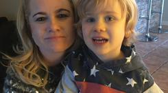 Vicki Cadogan with her son Harry
