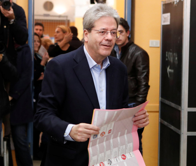 Italian PM Paolo Gentiloni. Photo: Reuters