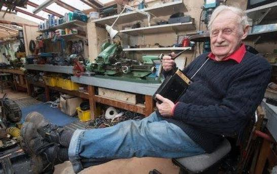 DETERMINED: Trevor Baylis created his radio against the odds