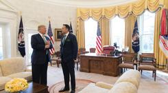 Trump and Varadkar in the Oval Office