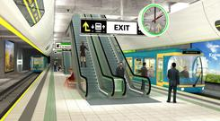 Artist's designs for Metro North stations. This project is a reworking of the Government's mothballed 2010 scheme