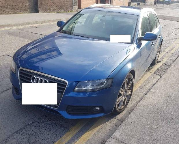 The car seized by gardai Photo: An Garda Siochana