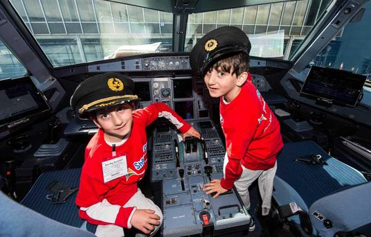 Hassan and Hussein Benhaffaf at Shannon Airport
