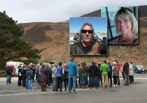 A vigil is held in Kerry for Normand Larose (62) and Rosalyn Joy Few (64) who were killed on Monday