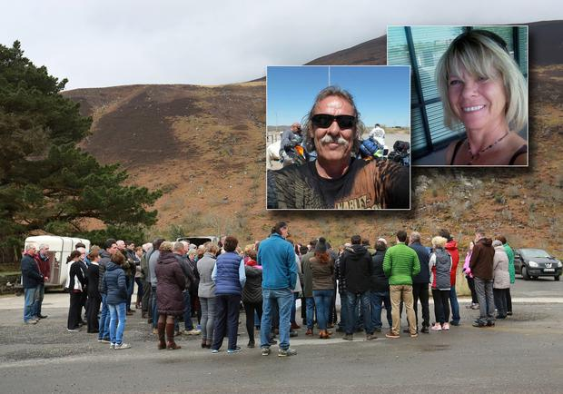 A vigil is held in Kerry for Normand Larose (62) and Rosalyn Joy Few (64)