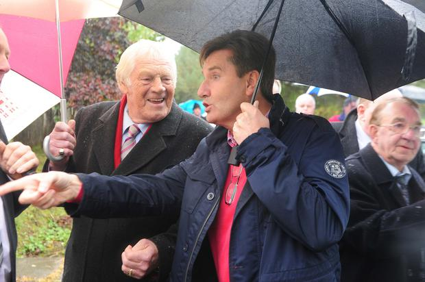 Big Tom McBride with fellow Irish music legend Daniel O'Donnell. Photo: James Flynn
