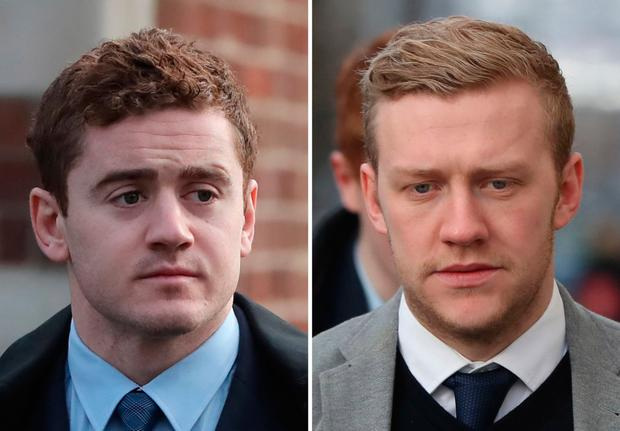 Paddy Jackson and Stuart Olding. Pictures: PA