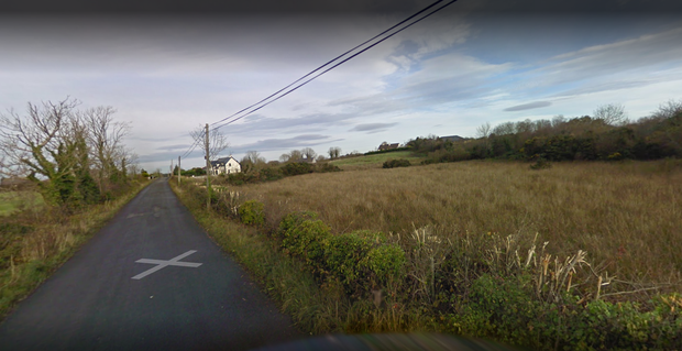 The plane came down in a field in Breaffy, outside Ballina, shortly after 6pm on Friday. Photo: Google Maps