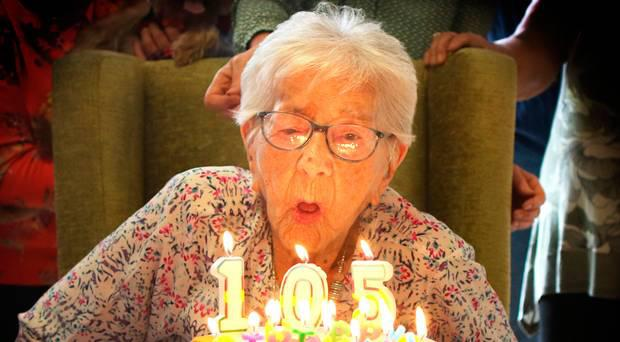 Margaret Atcheson celebrates her 105th birthday