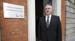 David Taylor at the Disclosures Tribunal at Dublin Castle yesterday. Photo: Damien Eagers