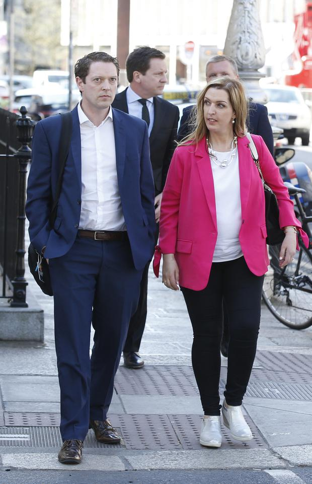 Stephen Teap arriving at Leinster House yesterday. Photo: Stephen Collins