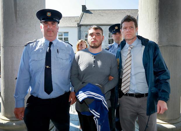 Blake Sweeney from Kerry pictured arriving at Tralee Court House. Photo: Frank Mc Grath