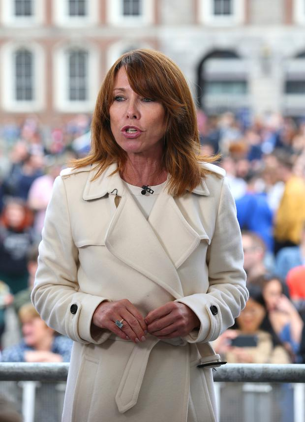 Sky News anchor Kay Burley at Dublin Castle on Saturday. Picture: Mark Condren