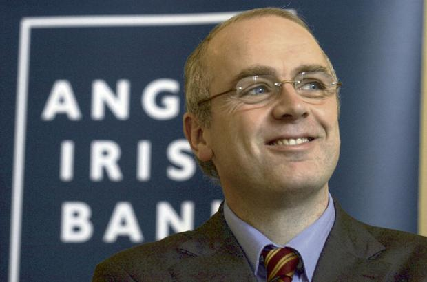 David Drumm is pictured at the announcement of Anglo Irish Bank's preliminary results in September 2004