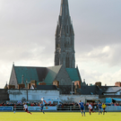 St John's Cathedral overlooks the Market Fields, home to Limerick FC which has apologised to players after paying outstanding wages. Picture: Sportsfile