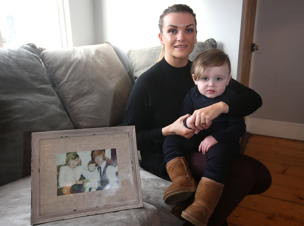 Lisa Lawlor pictured with her son, Lennon. Lisa lost her parents, Francis and Maureen Lawlor in the Stardust Fire. Photo: Damien Eagers