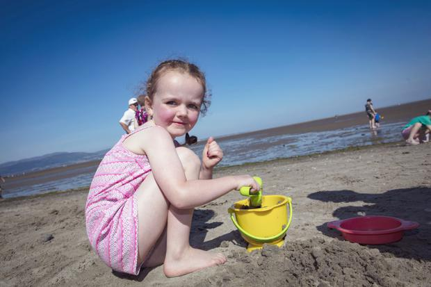 Sophie Turley (4), from Forkhill, enjoying the heatwave earlier this summer at Blackrock beach in Co Louth. Photo: Arthur Carron