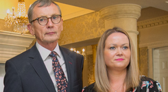 Report: Dr Gabriel Scally and Lorraine Walsh, who received an incorrect smear test result, during the launch of the report. Picture: Collins