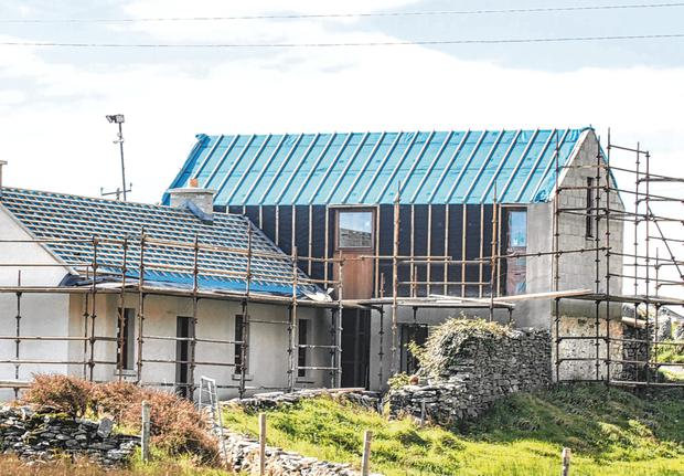 Hideaway: Work has begun on a massive renovation of Matthew Broderick and Sarah Jessica Parker's holiday home in Donegal. Picture: North West Newspix
