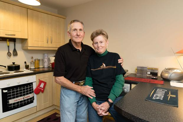 Fears: Greg Miller and his wife Hilari Hinnant from the US in their apartment in Ennis, Co Clare. Photo: Eamon Ward
