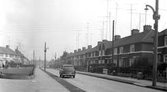 Lourdes Road in Ballyfermot in 1965
