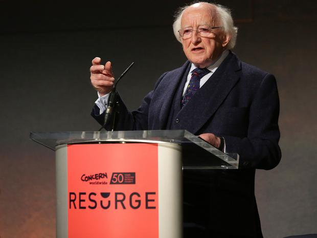 President Higgins. Picture: Damien Eagers