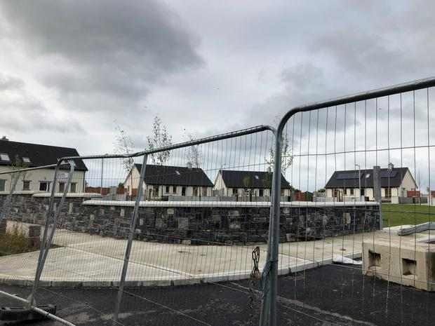 Rejected: The houses at Cabragh Bridge, outside Thurles, which have been turned down by a family of Travellers due to the lack of stables