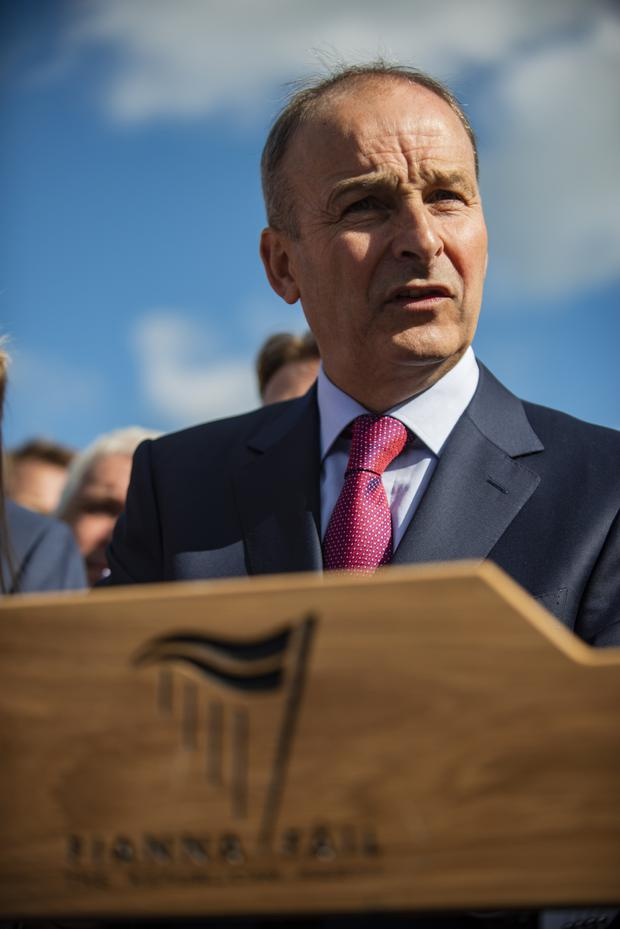 Adversity: Even with a good campaign, Micheál Martin must be mindful of the risk of a Fine Gael-Sinn Féin coalition. photo: Doug O'Connor