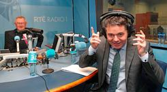 Hear, hear: Finance Minister Paschal Donohoe takes calls from members of the public on the 2019 Budget on 'Today with Sean O'Rourke' on RTE Radio One. Picture: PA