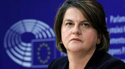 Red lines: DUP leader Arlene Foster in Brussels. Picture: Reuters