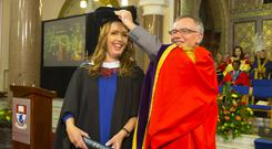 Vicky Phelan pictured with WIT President Prof Willie Donnelly