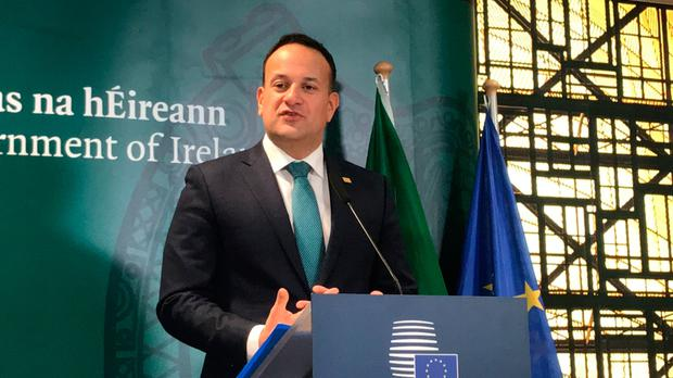 Only deal: Taoiseach Leo Varadkar discusses the outcome of the EU Council summit meeting in Brussels yesterday. Photo: Michelle Devane