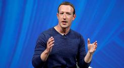Founder: Facebook's Chief Executive Mark Zuckerberg. Photo: Reuters/Charles Platiau/File Photo