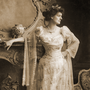 Countess Markievicz in a ball gown pictured circa 1900