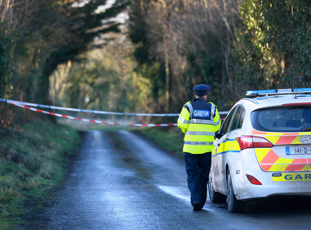 A garda at the scene. Picture: Frank McGrath
