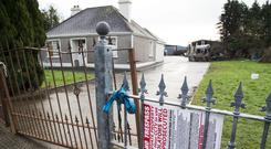 Boarded-up: The house in Strokestown at the centre of the controversy