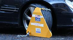 Dublin City Council revealed that 41,128 vehicles were clamped for illegal parking in the first 11 months of 2018. Stock Image